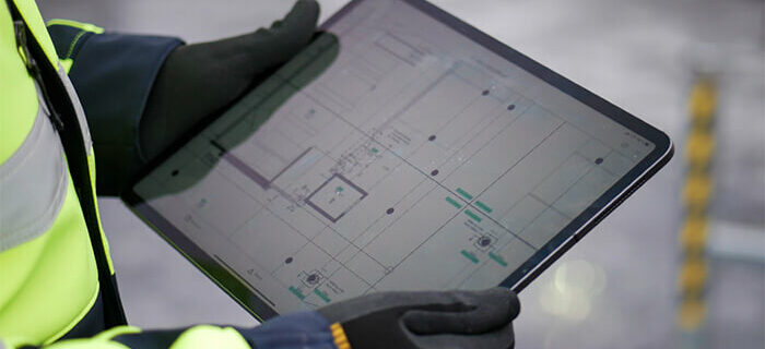 construction site safety management software tablet